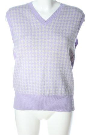Burlington Feinstrickpullunder lila-wollweiß grafisches Muster Casual-Look