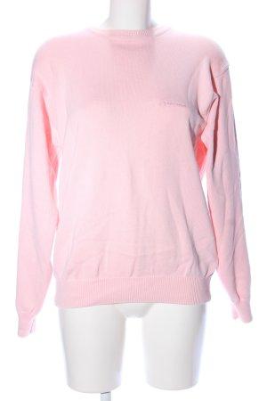 Burlington Oversized Pullover pink Schriftzug gestickt Casual-Look