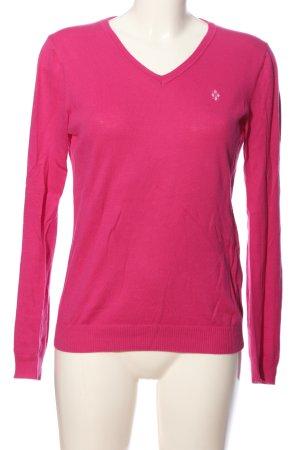 Burlington V-Ausschnitt-Pullover pink Business-Look