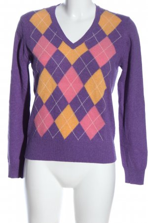 Burlington Maglione di lana stampa integrale stile casual