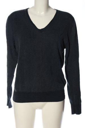 Burlington Maglione di lana nero puntinato stile casual
