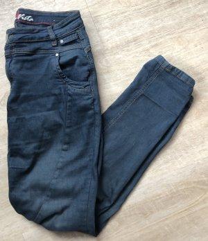 Burns Vista Jeans Eingefärbt Navy Dunkelblau