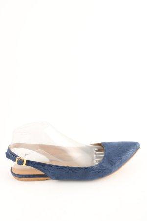 Burresi Slingback Ballerinas blau Animalmuster Casual-Look