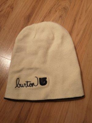 Burton Bonnet blanc-bleu foncé