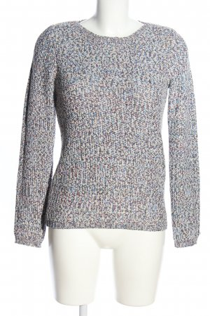 Burton Crochet Sweater light grey-blue flecked casual look