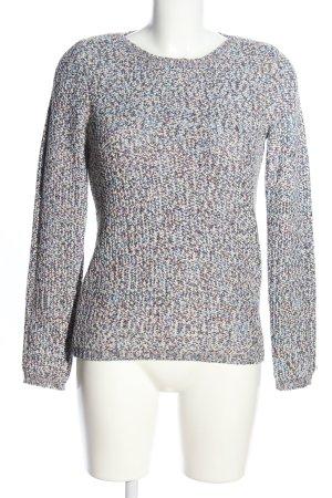 Burton Pull en crochet gris clair-bleu moucheté style décontracté