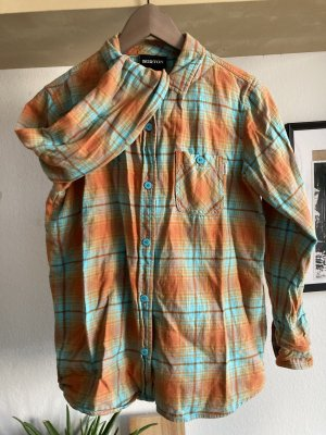Burton Camisa de franela naranja claro-azul claro