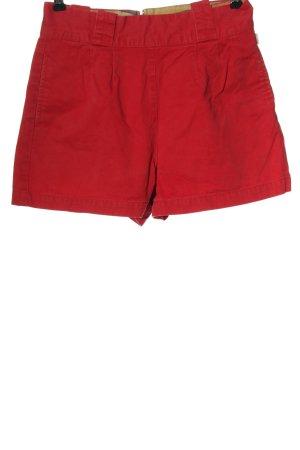 Burton Szorty z wysokim stanem czerwony W stylu casual