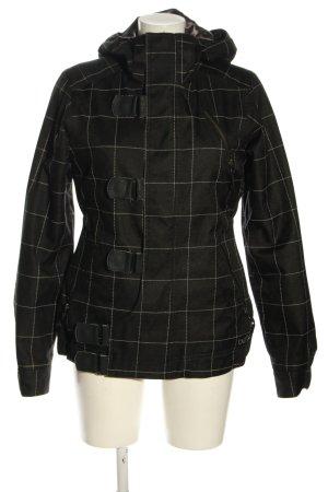 Burton Veste à capuche noir-blanc motif à carreaux style décontracté