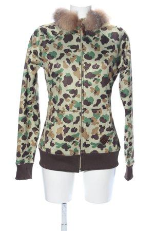 Burton Veste à capuche motif de camouflage style décontracté