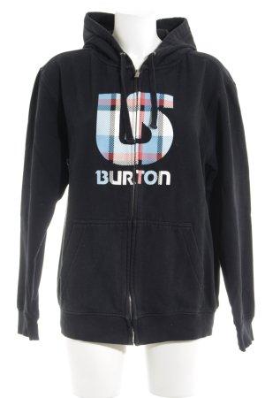 Burton Kapuzenjacke Motivdruck sportlicher Stil