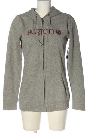 Burton Felpa con cappuccio grigio chiaro puntinato stile casual