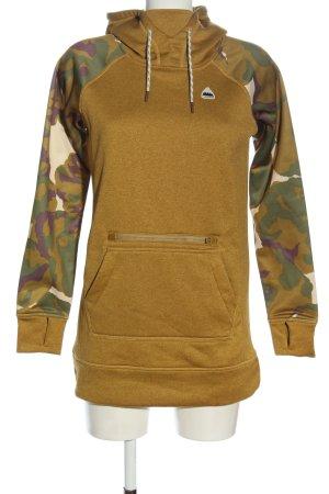 Burton Sweat à capuche jaune primevère-kaki motif de camouflage