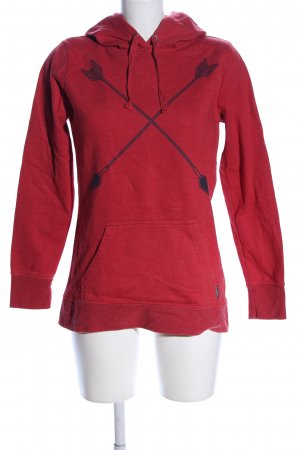 Burton Kapuzensweatshirt rot-blau Motivdruck Casual-Look