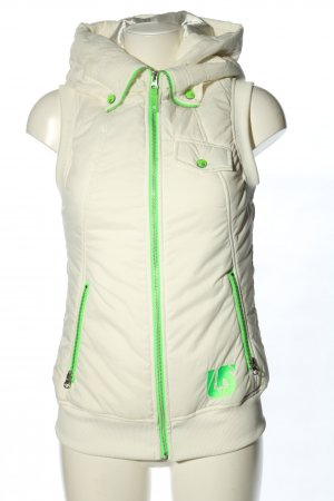 Burton Hooded Vest white-green casual look