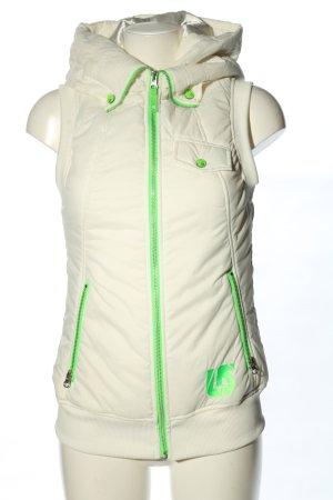 Burton Capuchon vest wit-groen casual uitstraling