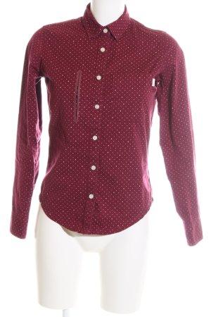 Burton Chemise à manches longues rouge-blanc motif de tache style décontracté