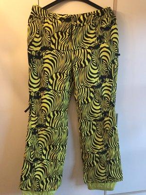 Burton Pantalón de esquí amarillo