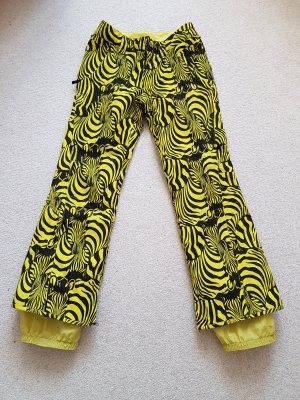 Burton Pantalon de ski noir-jaune fluo nylon
