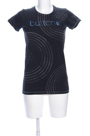 Burton T-Shirt blau Mustermix Casual-Look