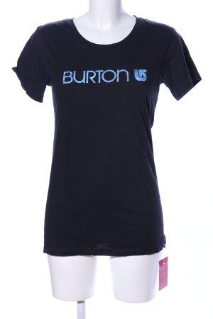 Burton T-Shirt schwarz-blau Schriftzug gedruckt Casual-Look