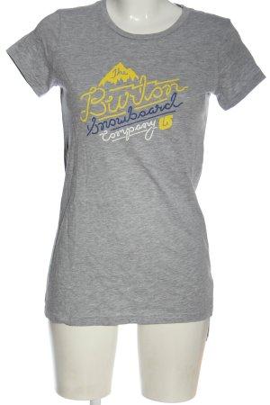 Burton T-shirt gris clair moucheté style décontracté