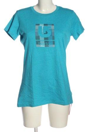 Burton T-shirt bleu imprimé avec thème style décontracté