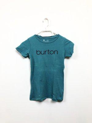 BURTON T-Shirt petrol türkis XS 34 logo Print