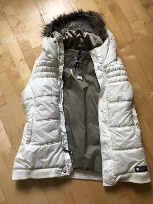 Burton Smanicato con cappuccio grigio chiaro-bianco