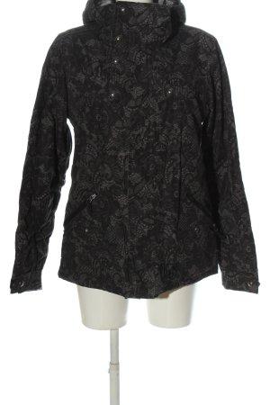 Burton Veste d'hiver noir-gris clair imprimé allover style décontracté