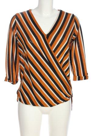Busem Slip-over blouse gestreept patroon casual uitstraling