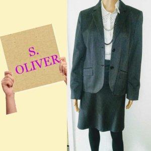 s.Oliver Garnitur biznesowy Wielokolorowy Tkanina z mieszanych włókien