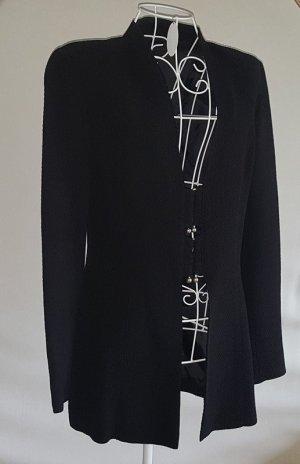 Blazer largo negro tejido mezclado