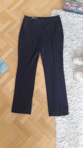Business Hose Bundfalte Stoffhose dunkelblau