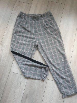 keine Woolen Trousers light grey-light pink