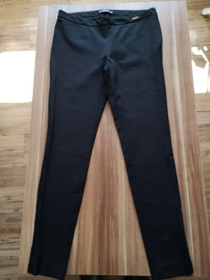 Esprit Pantalón de vestir negro-color plata