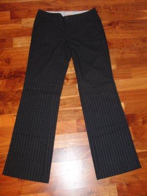 Esprit Woolen Trousers dark blue-natural white