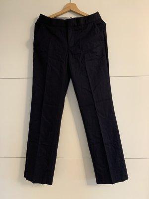 Zara Woman Pantalón de vestir azul oscuro
