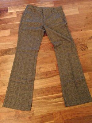 Stile Benetton Pantalon en laine marron clair-noir