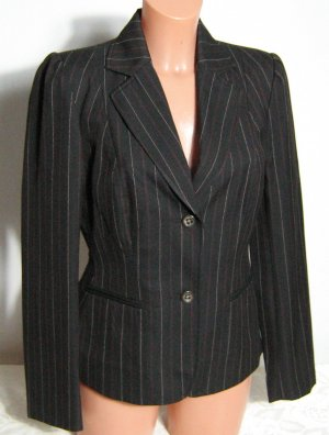 Basic Line Pinstripe Suit brown