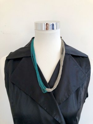 Collier Necklace silver-colored-turquoise