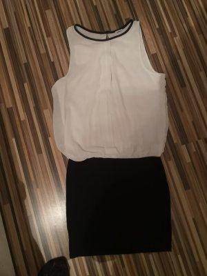 Pimkie Vestido elástico blanco-negro