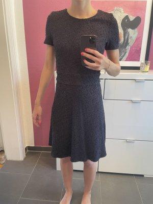 Business Kleid in blaugrau