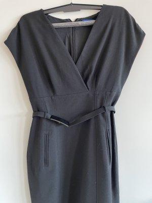 Joop! Vestido de lana negro-rosa neón