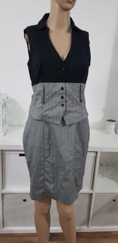 business kleid schwarz grau