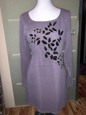 Business Kleid von Cartoon in gr 38 Farbe Grau mit Schwarzen Floralen Muster veredellt