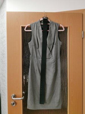 Zara Basic Falda estilo lápiz negro-gris
