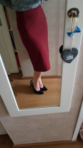 Bandolera Pencil Skirt bordeaux
