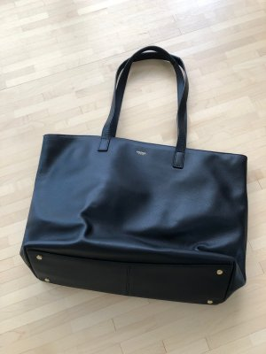 KNOMO London Laptop bag black leather