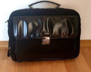 Business Laptop Tasche mit Tragegurt schwarz im Material Muster Mix